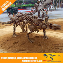 2015 Hot selling custom golden dinosaur skeleton