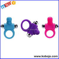 Hot selling silicone vibrating metal stay hard penis enlargement cock ring