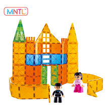 Hot Sale Science Magnetic Toys for Kids Baby /Fancy Playing Models Blocks/DIY Connected Building Tiles Kits