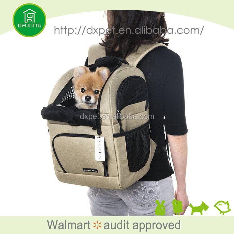Soft dog pet carrier for airplane travel or outdoor activities,pet backpack