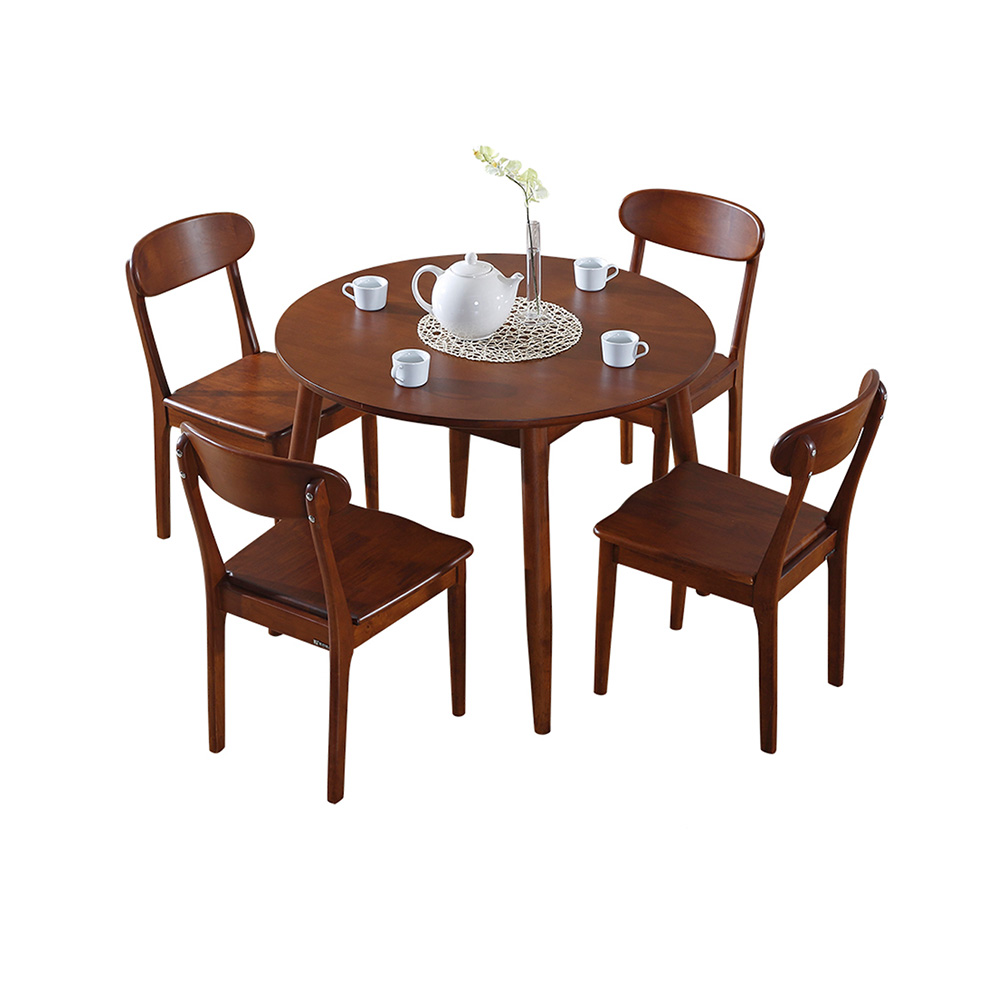 Round table furniture vintage design pictures of wooden dining table