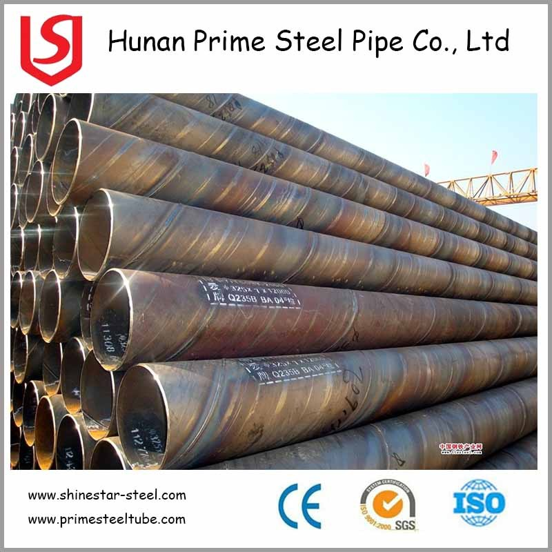 EN10217 S355J2H SSAW Steel Pipe stock list list of pipe companies