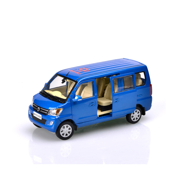 1:24 Dongfeng diecast minibus model,diecast van model car,scale model car manufacturer
