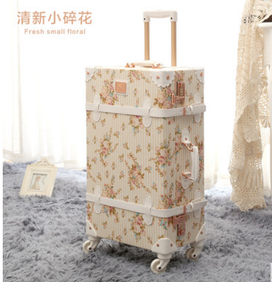 2016 New Design PU Travelling Bag Vintage Luggage For Girl