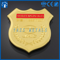 Customized gold 3D auton emblems car logo with 3M sticker