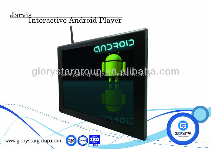 HD advertising display hot video player kiosk stand with usb