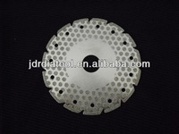 "4.5"" V slot Electroplated diamond blade with dots"