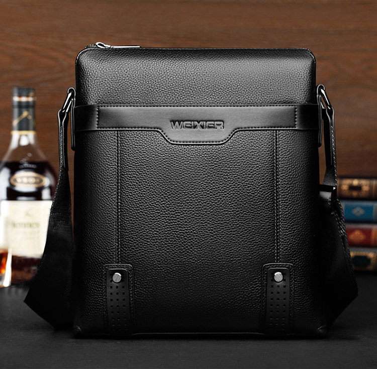 Fashion Business Casual Men Bags waterproof PU leather Crossbody shoulder messenger bag