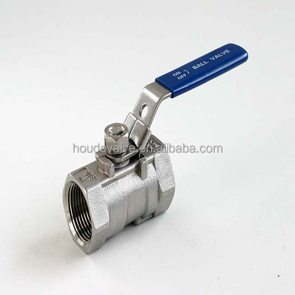 Manual lockable key on valve handle adjustable 1000psi working pressure stainless steel lockable ball valve with key
