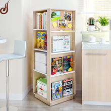 Customized size FR-MDF PD material new design movable portable book shelf