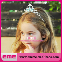 Rhinestone baby crown tiara baby crown handband bule crown