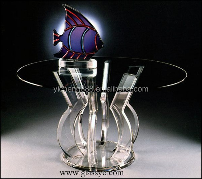 Home Furniture Exceptional Quality Acrylic Glass Dinning Table