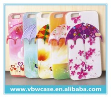 cute umbrella shape TPU case cover for cell phone