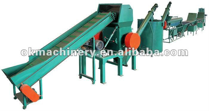 PET bottle/used PP PE plastic film washing recycling machine plant