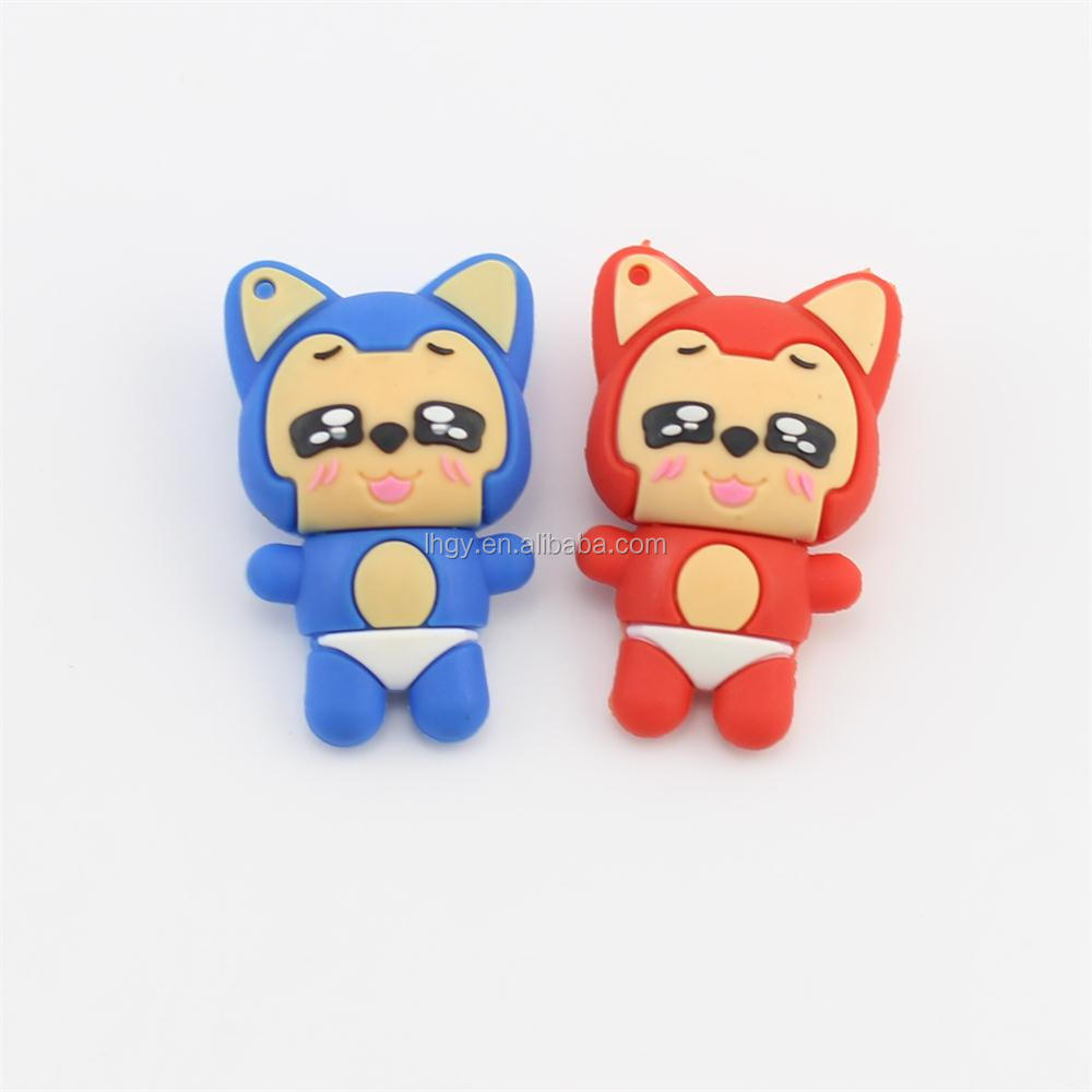 Animal shape fox usb flash drive cartoon 3d usb pen drive16gb