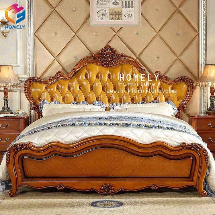 Golden Royal Design Solid Wood King Size <strong>Bed</strong>