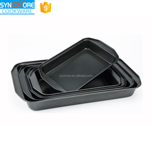 0.4MM Carbon Steel Non-stick Rectangle Cake Pan/ Shallow Baking Tray