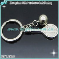 3D made in china factory cheap wholesale badminton keychains