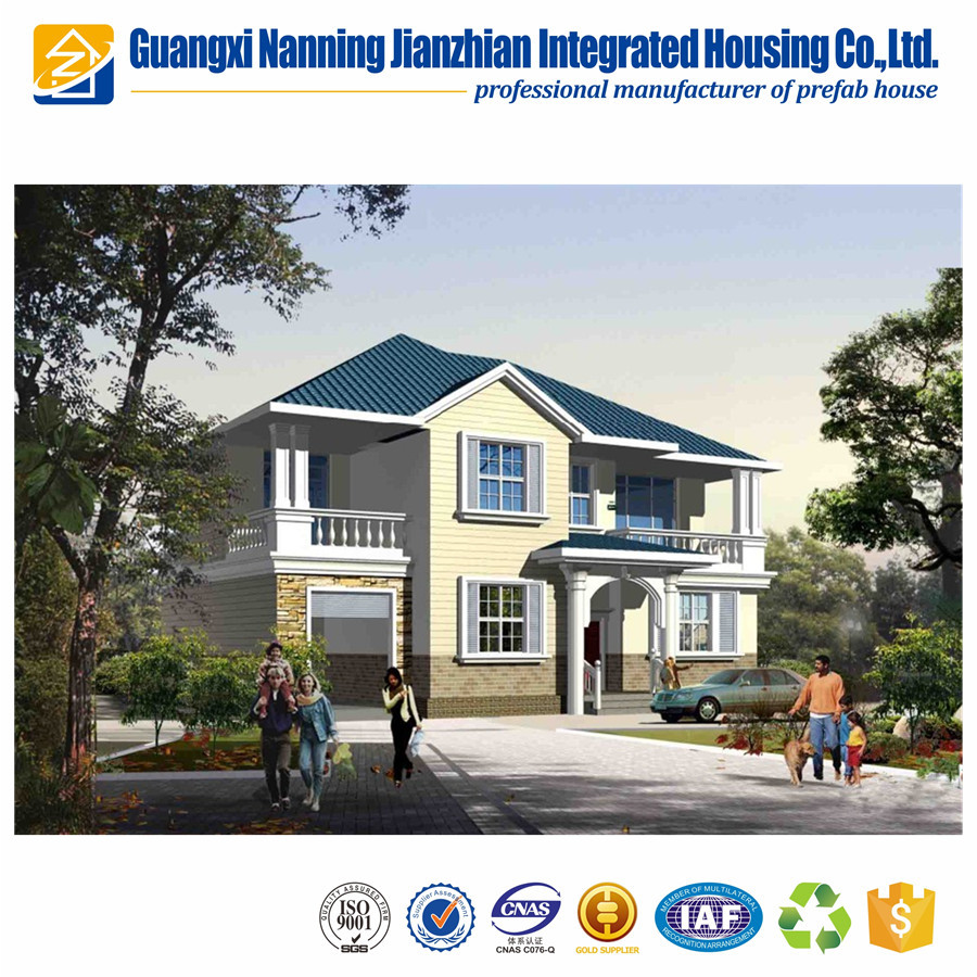 Low cost Luxury Cheap prefab modern villa for sale prices made in China