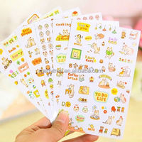 High Quality New Lovely Cat Scrapbooking Memo Stickers Diary Sticker Decoration Sticker 6 PCs Per Set
