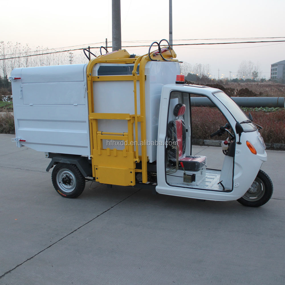 2016 chinese powerful high quality electric garbage tricycle for sale in factory