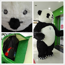 HI CE new arrival 3 meters inflatable panda mascot costume,adult mascot costume with high quality