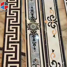 Designs For Hall Handmade Flower Pattern Colorful Marble Flooring Border