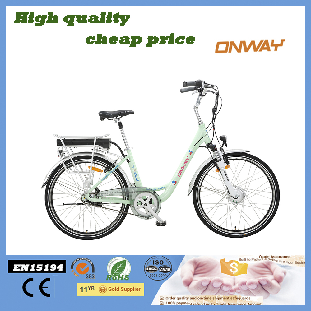 26'' Classic Laddies city Electric Bike/Electric Bicycle with 8 FUN Rear Wheel Brushless Motor