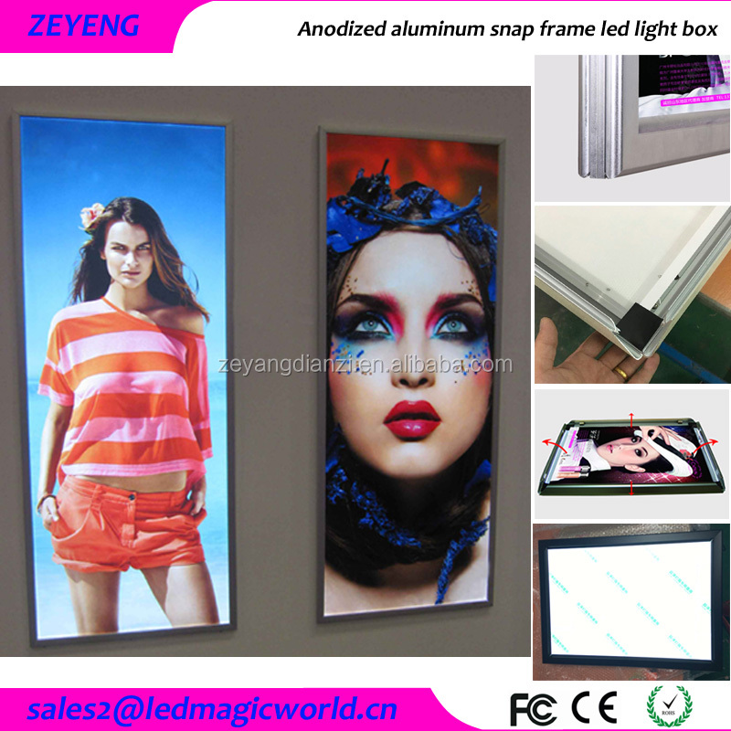 High quality Advertising Slim Movie Display Cinematic light box