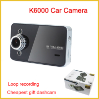 "K6000 HD480P Vehicle 2.5"" hd car vehicle dash Car Black Box Dashboard Camera Video DVR Car Recorder consumer electronics"