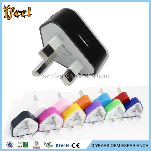 5W 5V 2A 1 Port UK PLUG 3 PIN USB Wall/Travel Charger For Iphone For Ipad For Samsung Galaxy