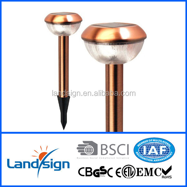 XLTD-308C High quality Cixi landsign Stainless Steel & Copper portable solar lamp