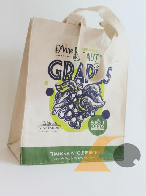 Cotton Grocery Bag Printed with Company Logo