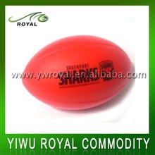 Promotional 10CM Plain Surface Foam Mini Rugby Stress Ball
