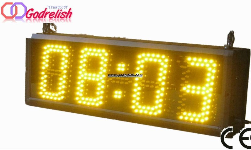 7 segment high quality super brightness yellow outdoor large <strong>led</strong> temperature <strong>display</strong>