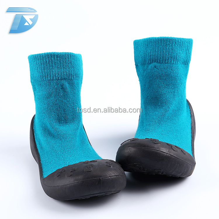 new style small MOQ cotton sock sock knitted shoes baby boy