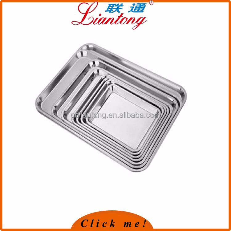 2017 Latest hot sale aluminum tray stainless steel bar tray