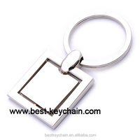 promotion blank square shaped metal keyring (BK52904-)