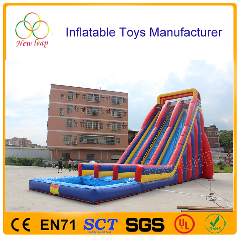 10m High Giant Inflatable Water Slide For Adult Large Inflatable Pool Slide