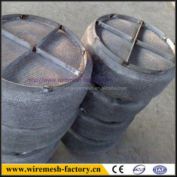 good quality stainless steel knitted wire mesh column demister