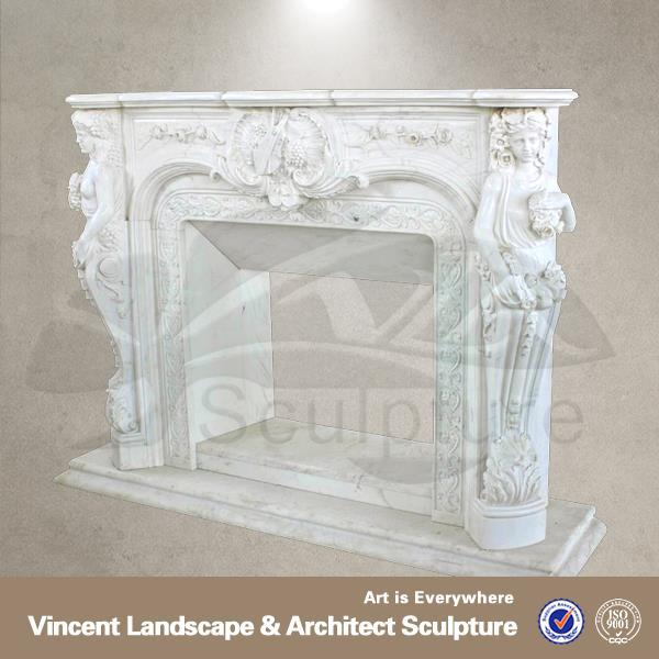 Chinese brand 30% discount white marble ethanol fireplace with remote control