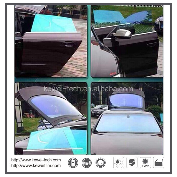 100% UV rejection and heat insulation ,Fashion Colorful Automotive film,Car window glass tinting film