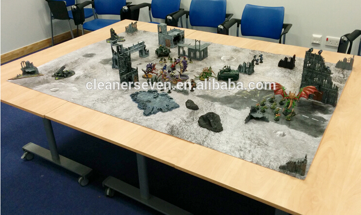 2016 full color waterproof 4'x6' super big custom printed board war game battle mat