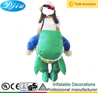DJ-CO-112 kids and adult inflatable green dinosaur costume dragon costume