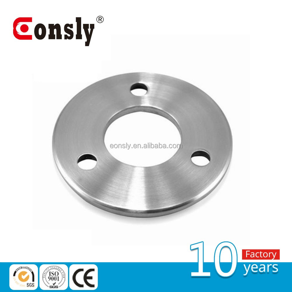 AISI304/316 mirror/polish finish stainless steel handrail post base plate for stair/fence post/balustrade/pipe/tube