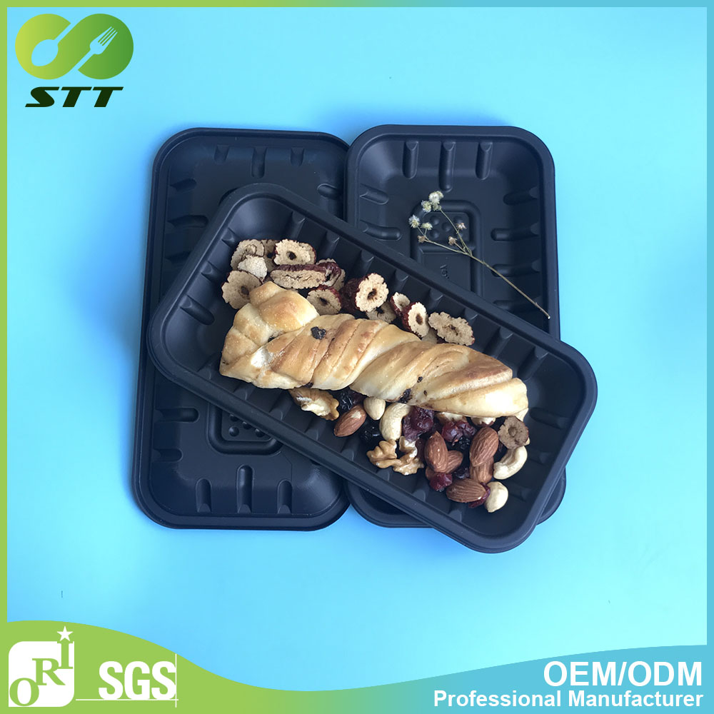 Corn starch disposable food trays biodegradable food container eco-friendly lunch box