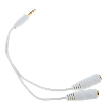 3.5mm Earphone Cable Adapter Headphone Splitter Cable Adapter Jack Male to 2 Female
