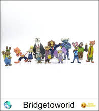 12pcs 4-7cm For Zootopia Action Figure Doll PVC Zootopia Figure Toys Rabbit Judy Cop Fox Nick Cartoon Collection