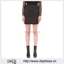 Wholesale Women Apparel Hot Sale High Rise Visible Darts Notched Sides Quilted Skirt(DQE0211SK)