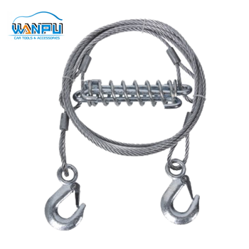 Stretch emergency stainless steel wire steel tow wire rope with hook